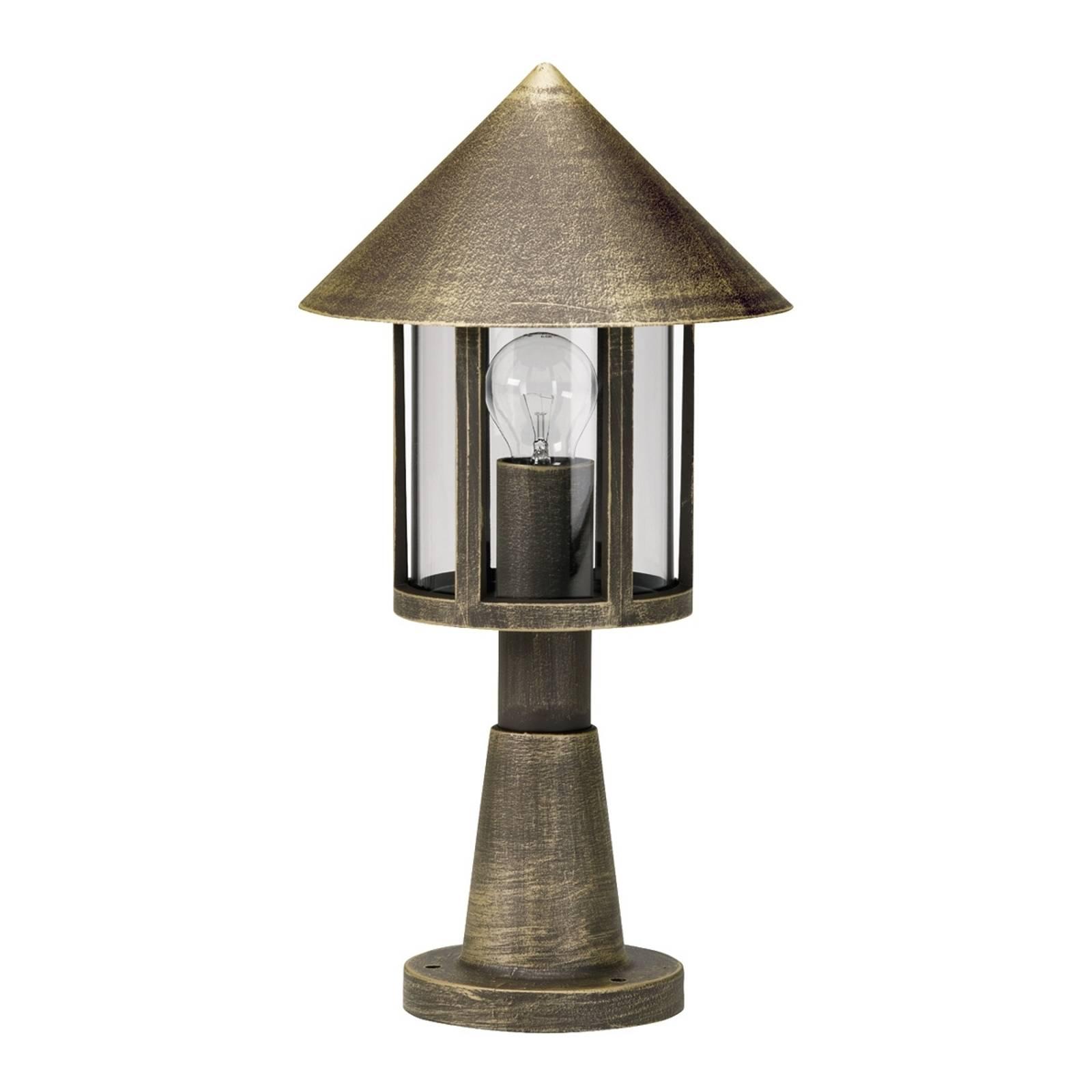 Lampione-pollarivalaisin ruskea-messinki