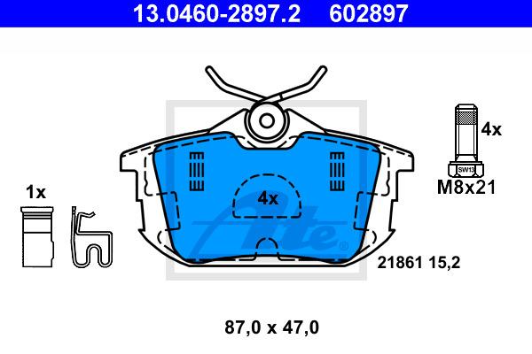 Jarrupalasarja, levyjarru ATE 13.0460-2897.2