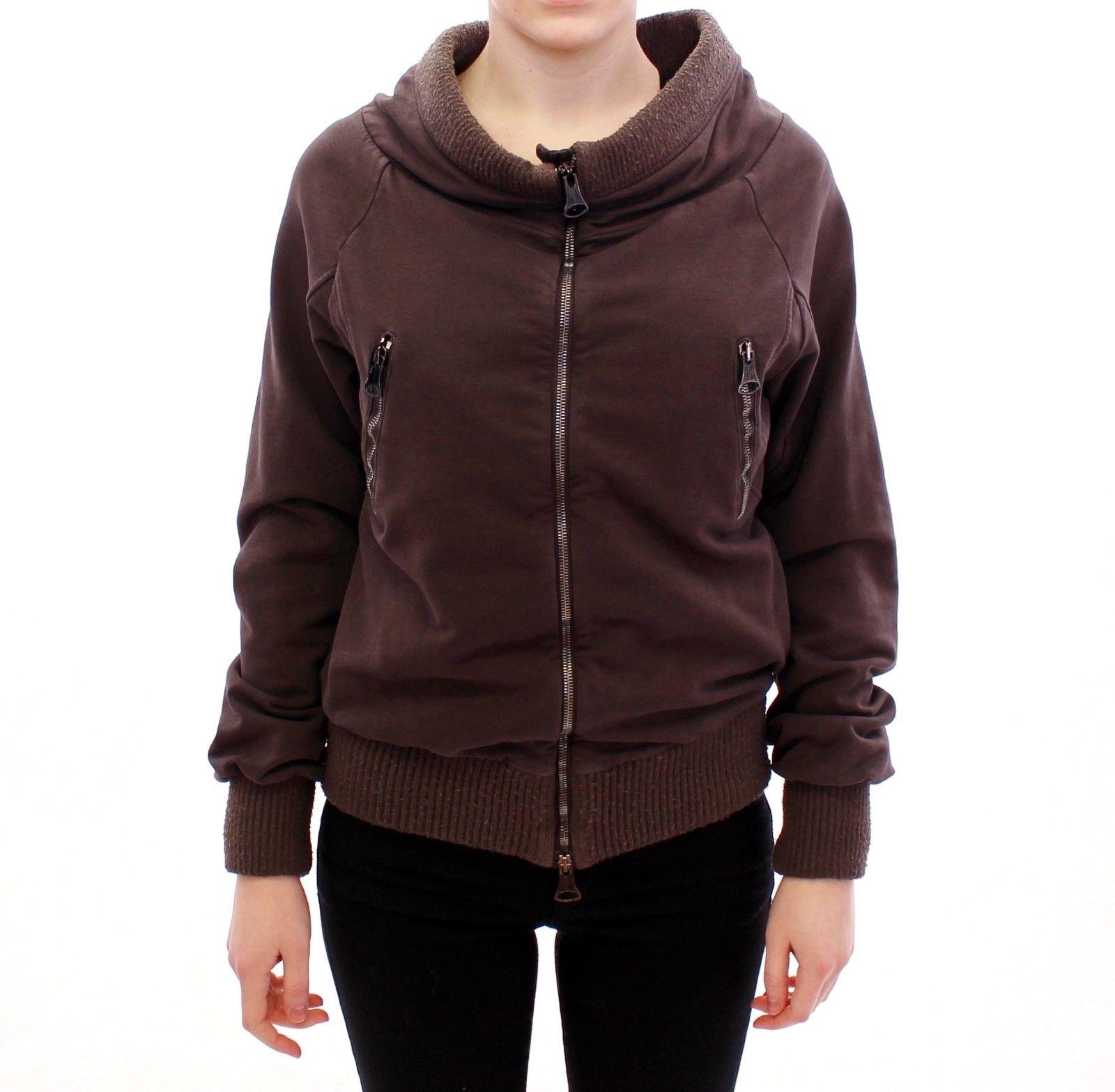 Ermanno Scervino Women's Full Zip Jacket Brown GSD10001 - IT42 | S