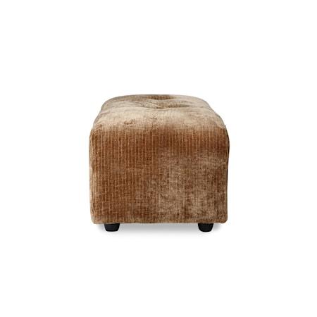 Vint couch Soffmoduler hocker Small Corduroy velvet Aged gold