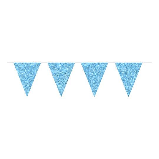 Flaggirlang Ljusblå Glittrig