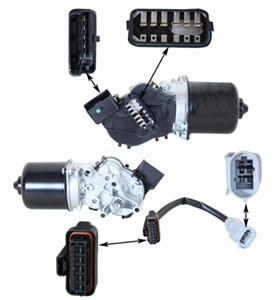Pyyhkijän moottori, Edessä, RENAULT CLIO II, CLIO Skåp/halvkombi II, THALIA I, 77 01 207 956, 7701046305, 7701049802, 7701052152, 770105