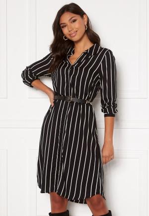 Happy Holly Juliette shirt dress Black / Offwhite 40/42