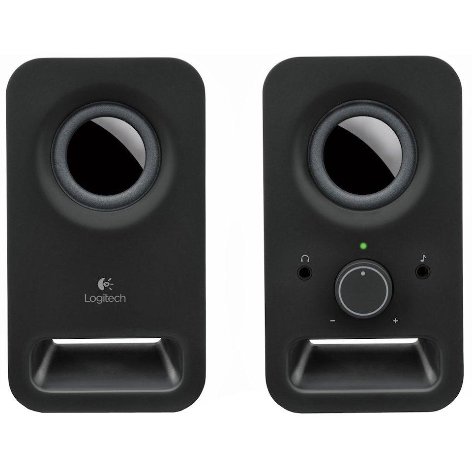 Logitech - Z150 Stereo Speakers - Midnight Black