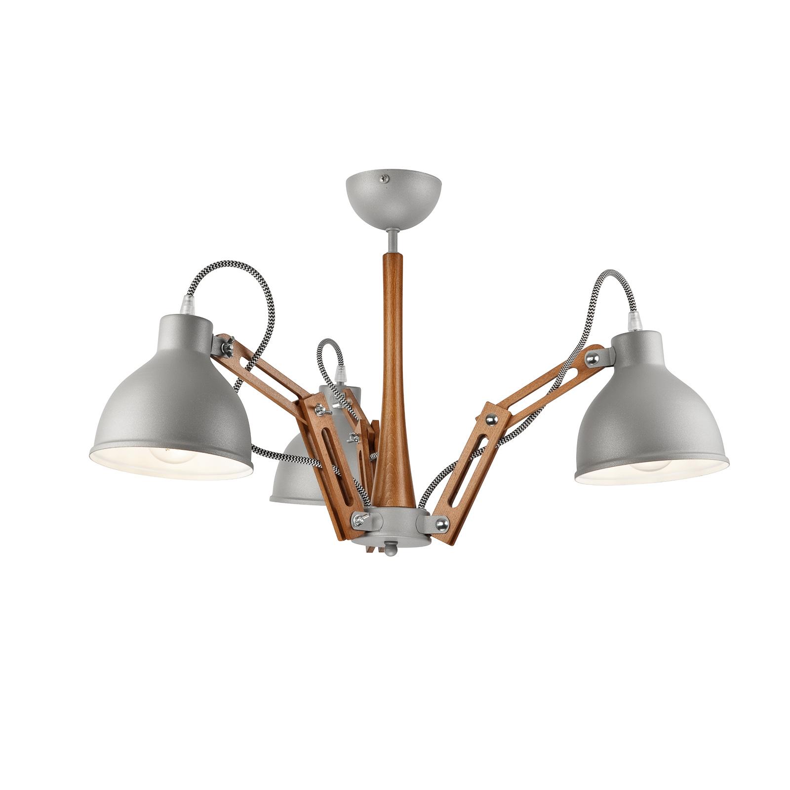 Kattovalaisin Skansen 3-lamppuinen, harmaa