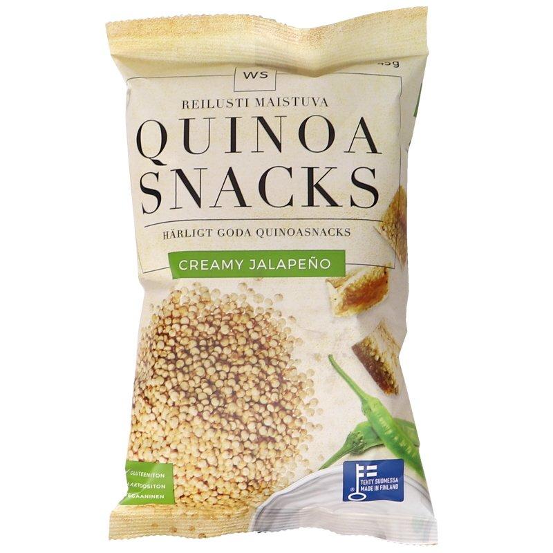 Kvinoa Snacks Jalapeno & Kerma - 24% alennus