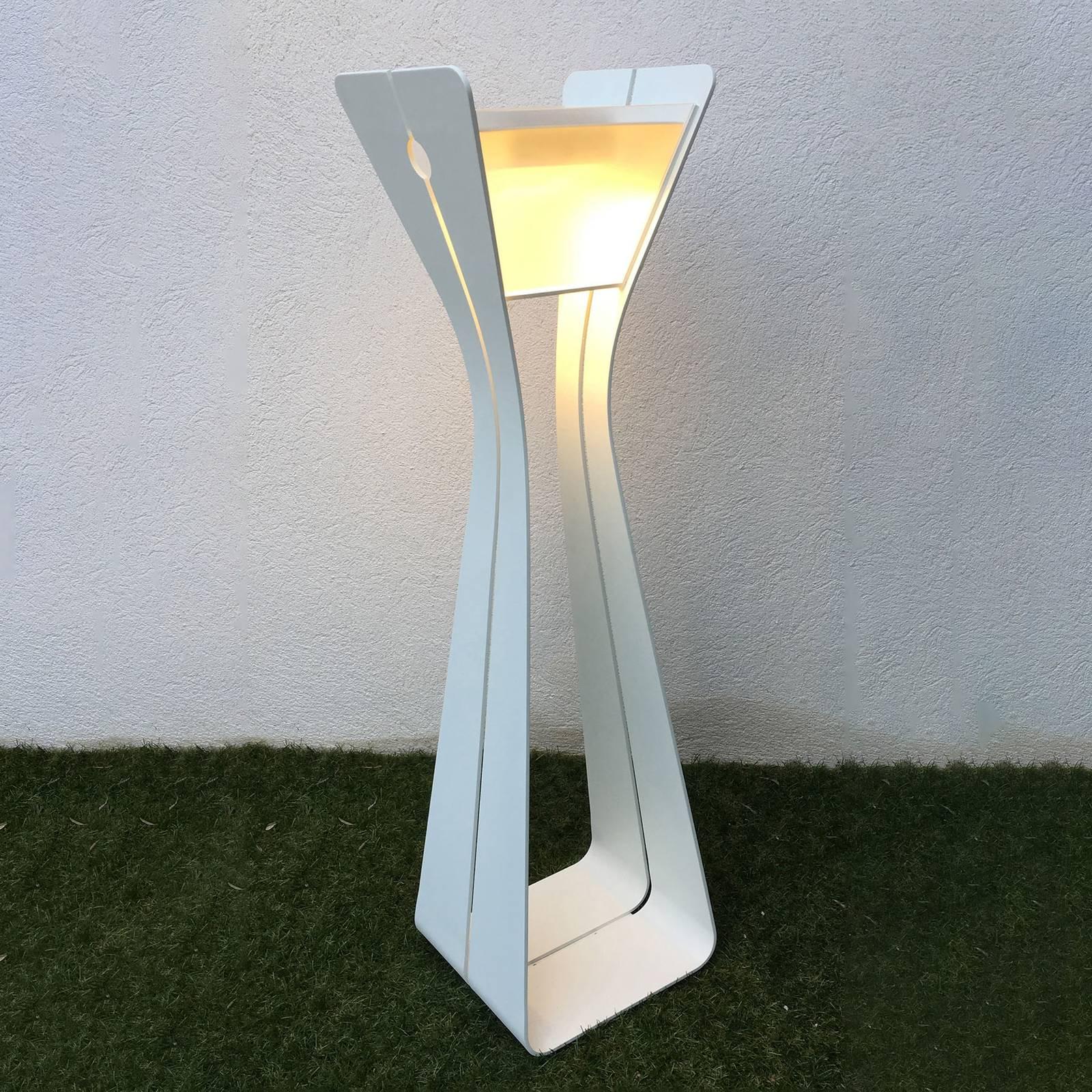 Aurinkokäyttöinen LED-valaisin Osmoz, valkoinen