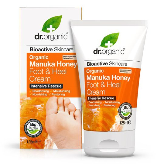Dr. Organic Manuka Honey Foot & Heel Cream, 125 ml