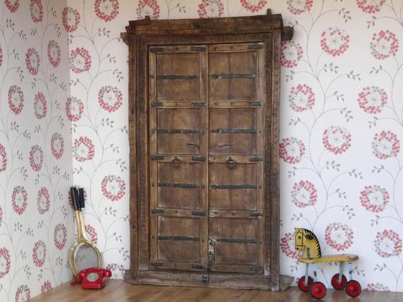 Antique Wooden Door 1 Brown Extra Large