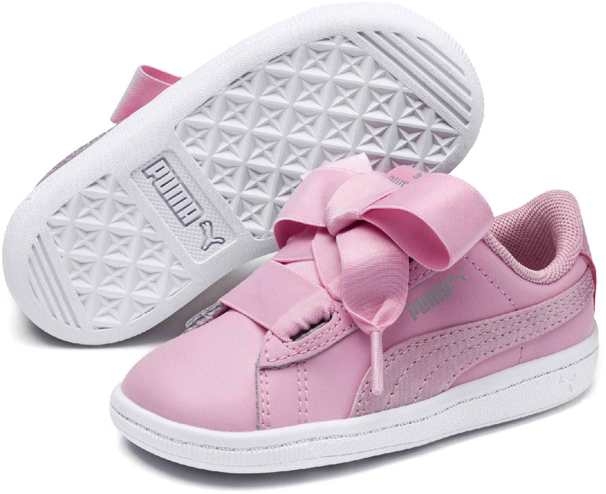 Puma Vikky Ribbon Satin AC PS Sneaker, Pink 35