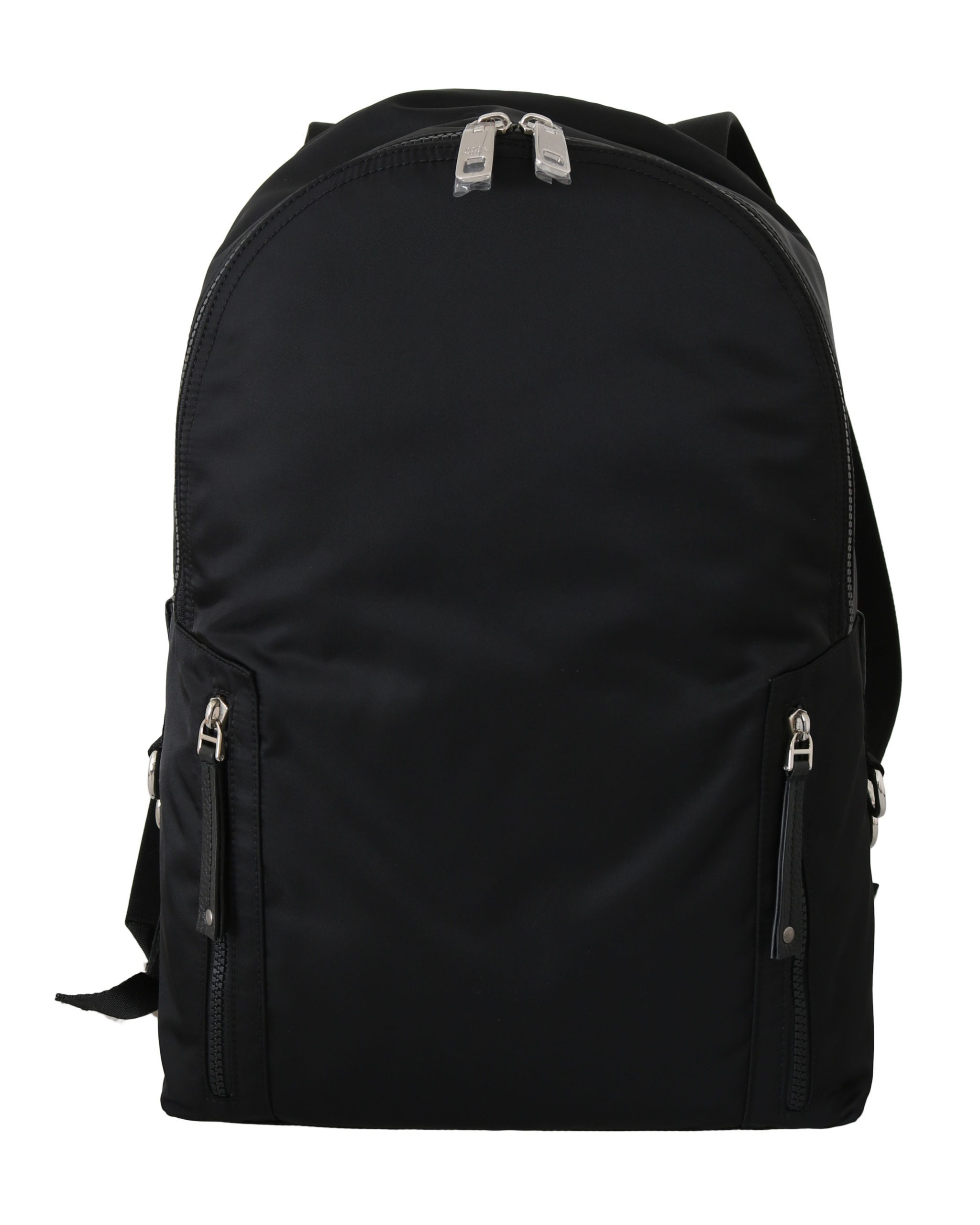 Dolce & Gabbana Men's Nylon Leather Casual School Backpack Black VA8828