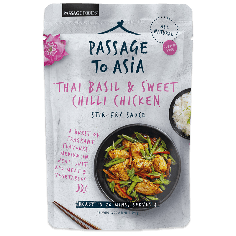 "Kastike ""Thai Basil & Sweet Chilli"" 200g - 50% alennus"
