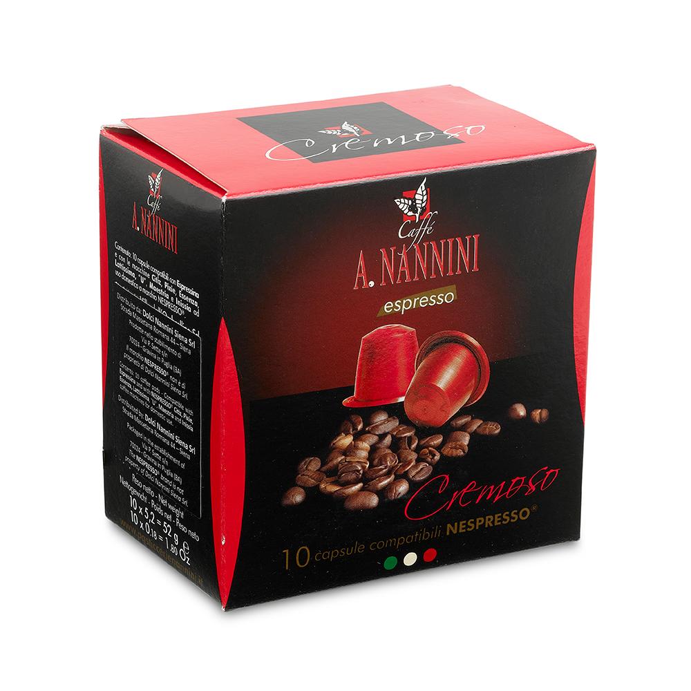 Cremoso Nespresso Capsules 10pcs 60g by Nannini