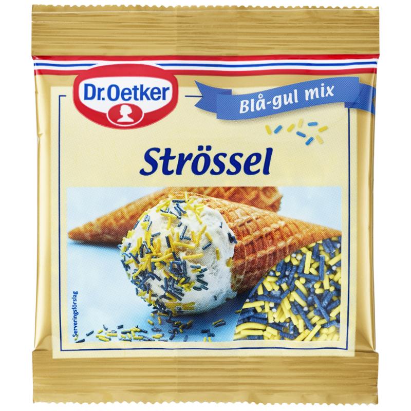 Strössel Blå & Gul Mix 20g - 29% rabatt