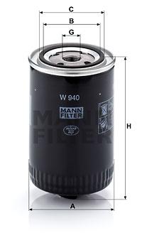Öljynsuodatin MANN-FILTER W 940 (10)