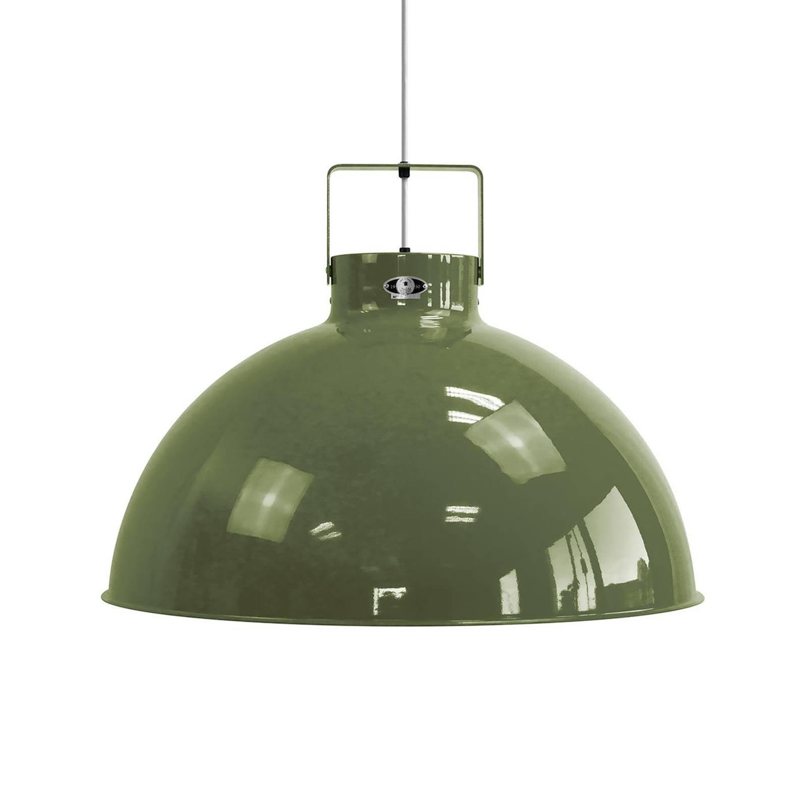 Jieldé Dante D675 hengelampe, olivengrønn, Ø67,5cm