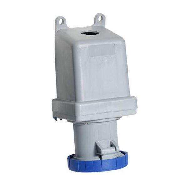 ABB 2CMA167149R1000 Seinäpistorasia IP67, 16 A, ulkoinen kiinnitys 3-napainen, sininen