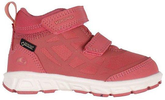 Viking Veme Mid R GTX Sneaker, Peach/Cream, 24
