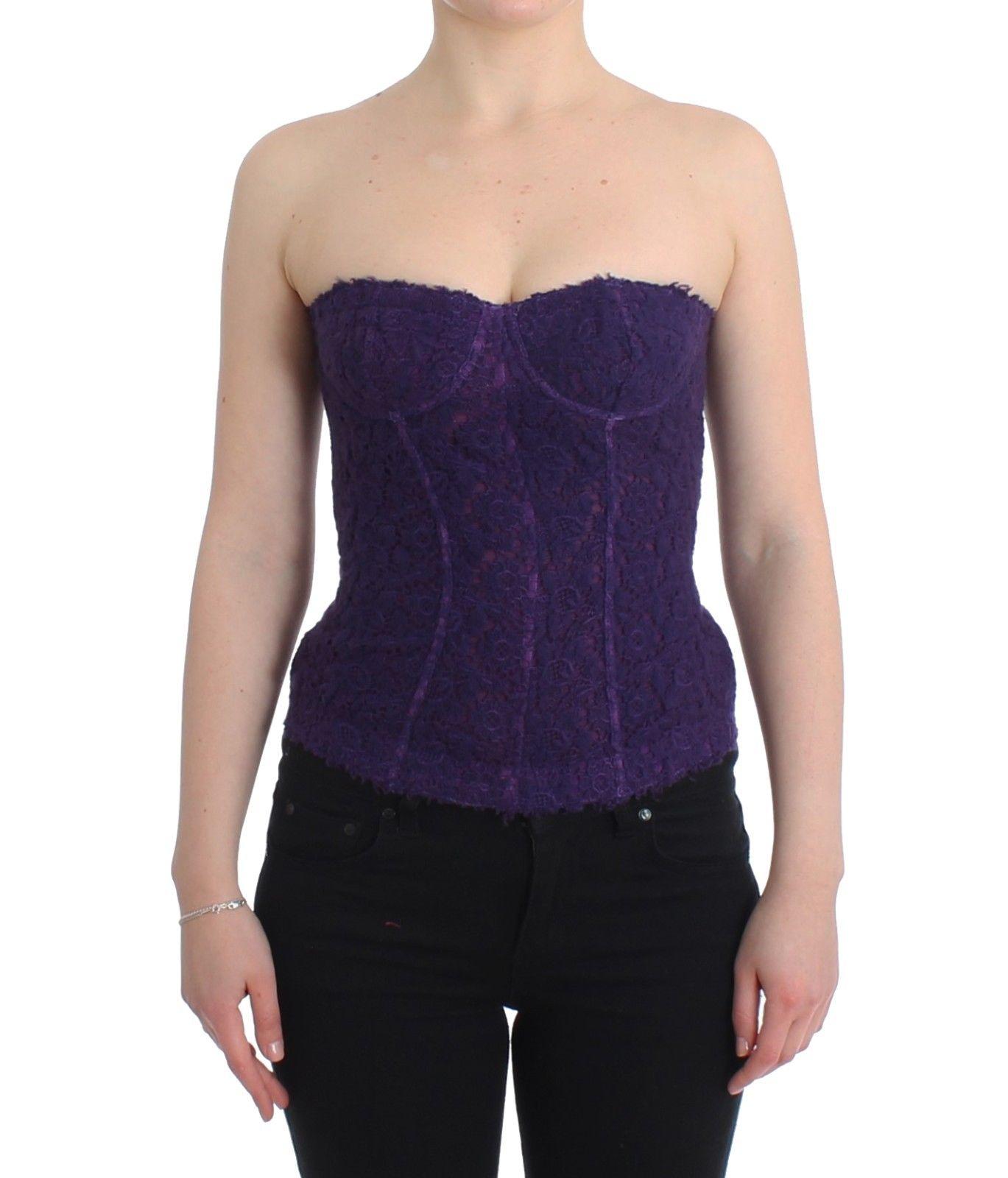 Ermanno Scervino Women's Top Floral Lace Purple SIG11499 - IT2 | S