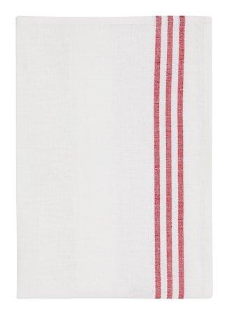 Kjøkkenhåndduk halvlinne 2-pakk Rød/Hvit
