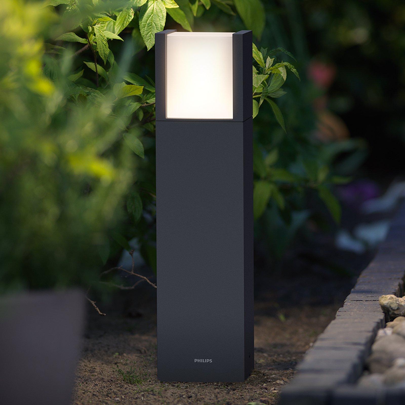 Philips Arbour LED-sokkellampe antrasitt IP44