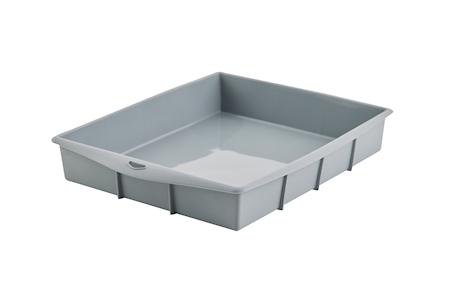 Rektangulær Bakeform Platinumsilikon 32 x 25 x 5 cm Grå
