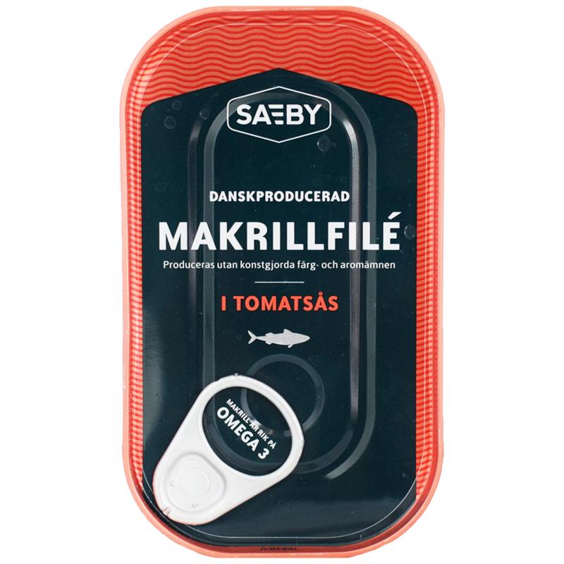Makrillfilé Tomatsås 125g - 14% rabatt