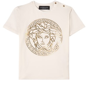 Versace Medusa Print T-shirt Vit 24 mån