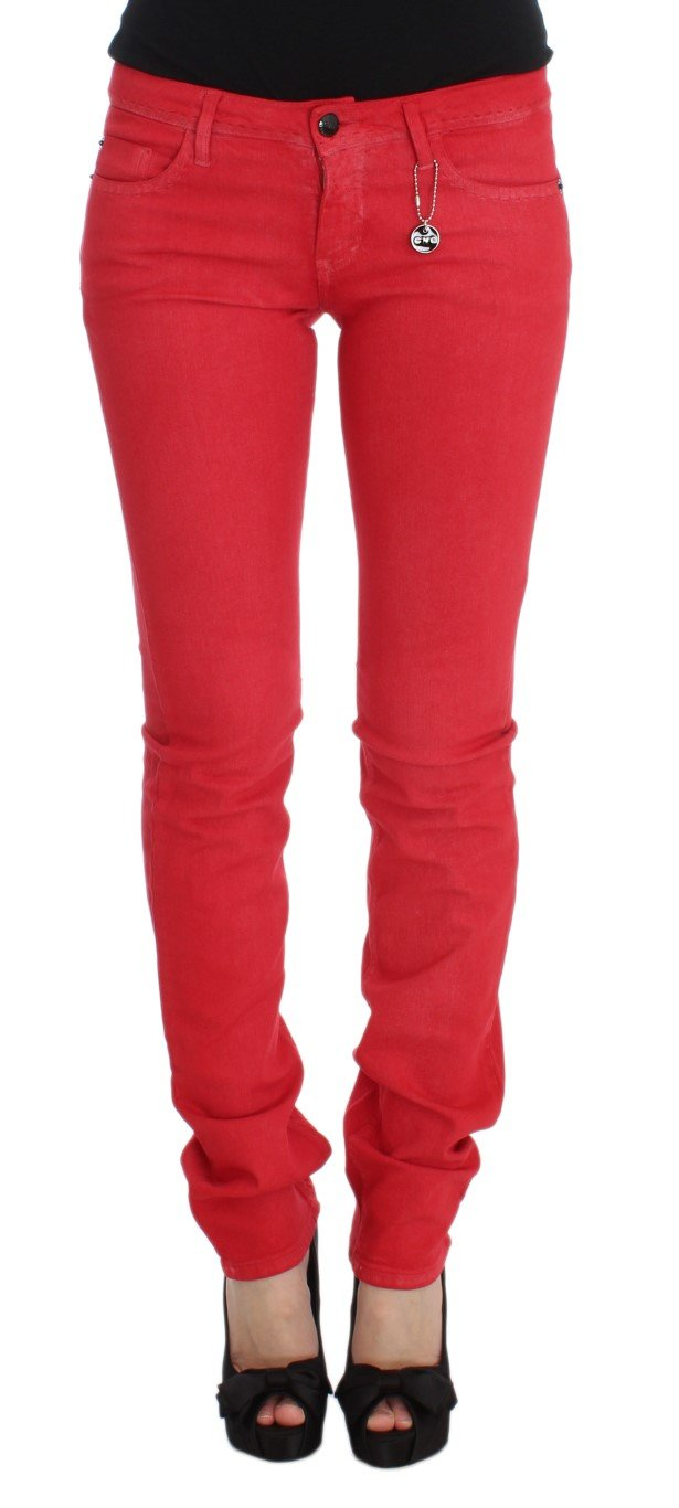Costume National Women's Cotton Blend Super Slim Fit Jeans Red SIG31090 - W31