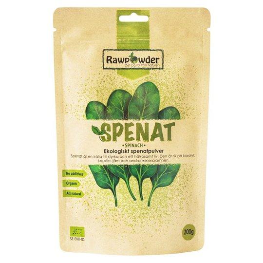 Rawpowder Ekologiskt Spenatpulver, 200 g