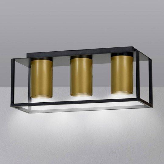 Takspot Tiper med stamme, 3 lyskilder, svart-gull