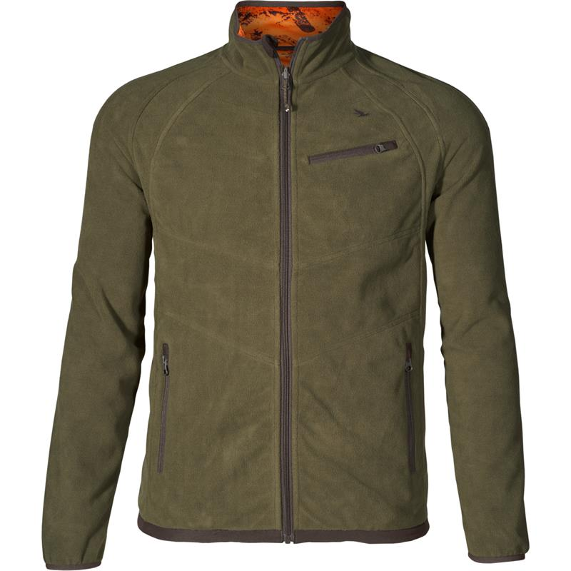 Seeland Vantage reversible fleece L Pine green/InVis orange blaze