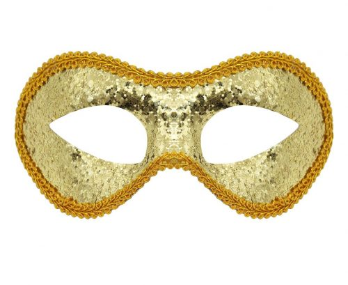 Ansiktsmask guldglitter