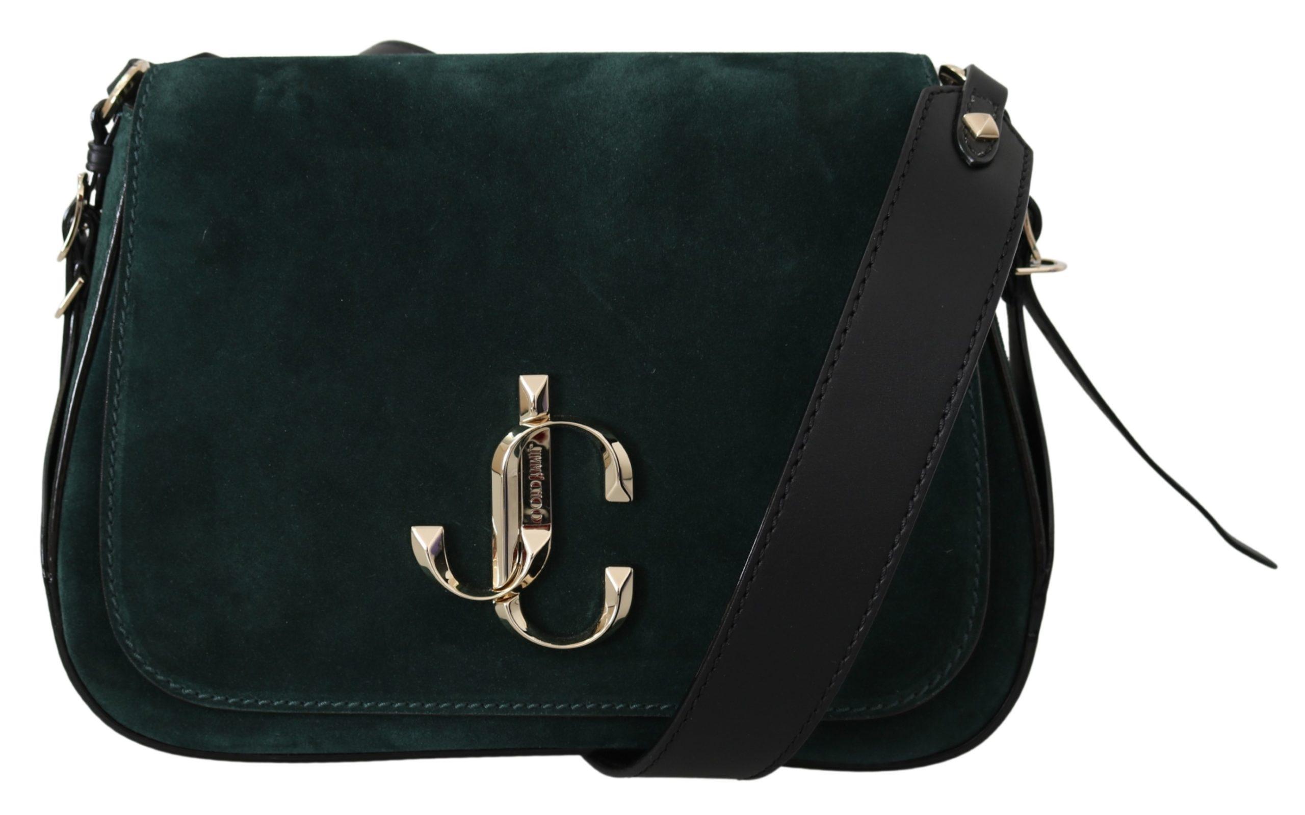 Jimmy Choo Women's Varenne Shoulder Bag Black/Dark Green 1436238