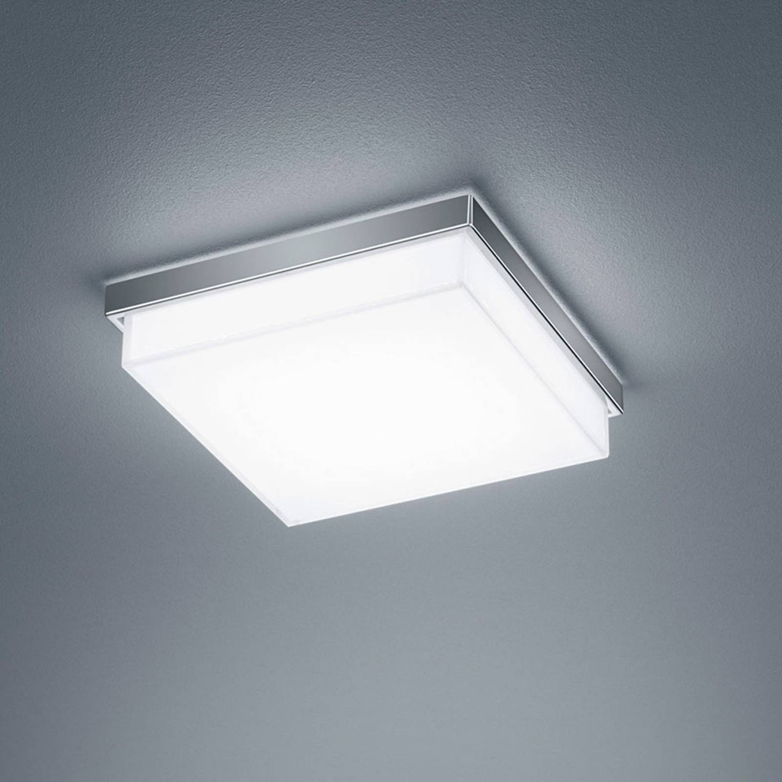 Helestra Cosi -LED-kattovalaisin, kromi 21x21 cm