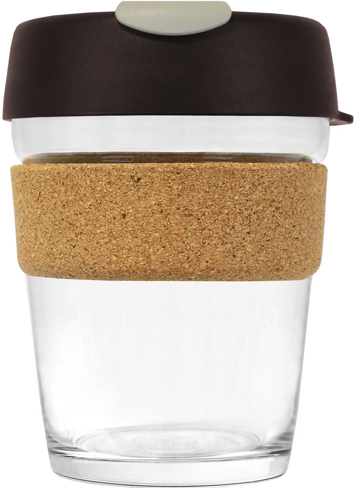 KeepCup Brew Cork Glass Almond