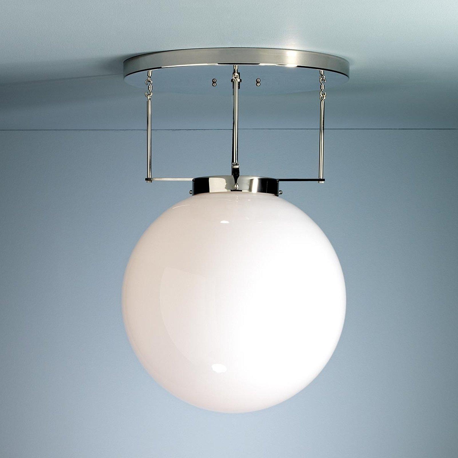 Brandts taklampe i Bauhaus-stil nikkel 40 cm
