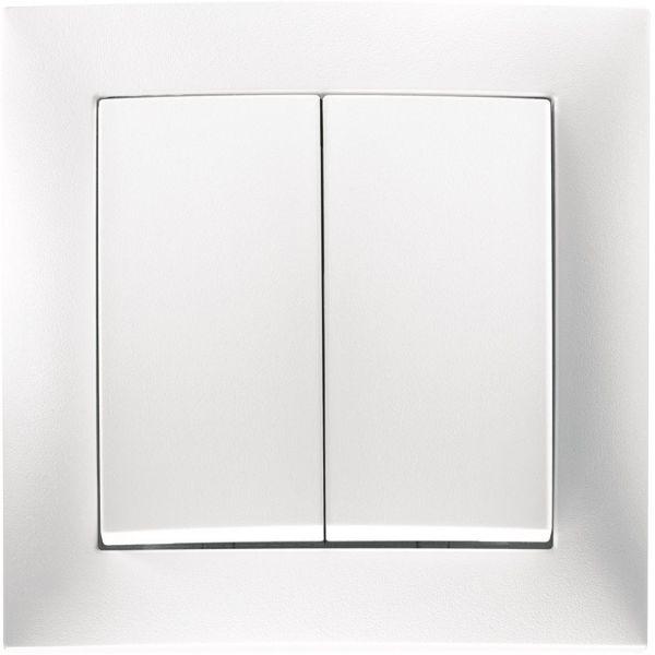 Hager 6350351909 Painike valkoinen Kruunukytkin