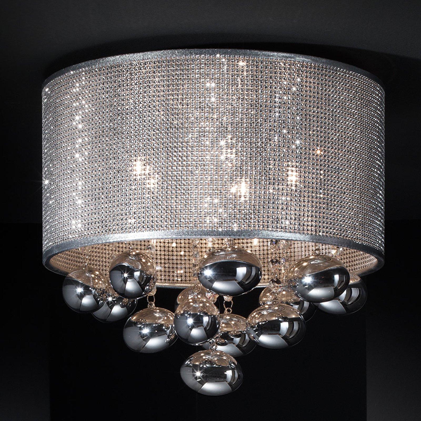 Andrómeda LED-taklampe med forheng