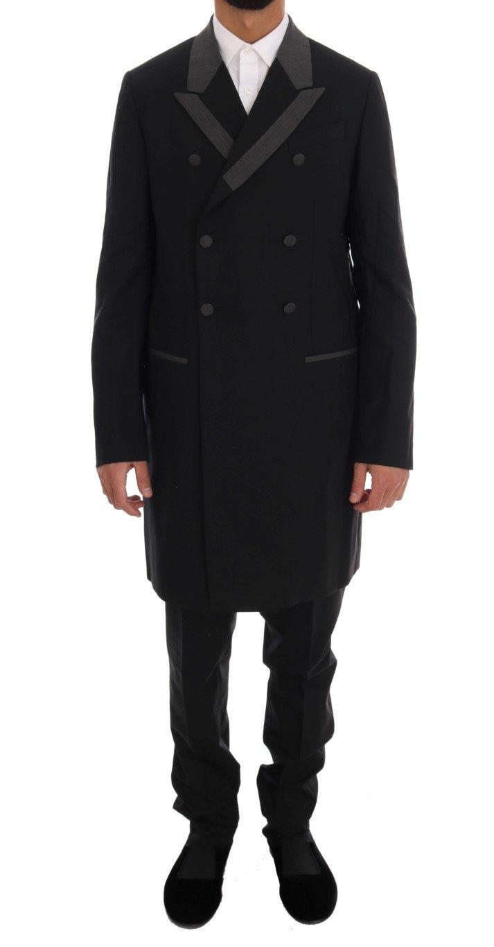 Dolce & Gabbana Men's Wool Stretch 3 Piece Two Button Suit Black KOS1115 - IT48 | M