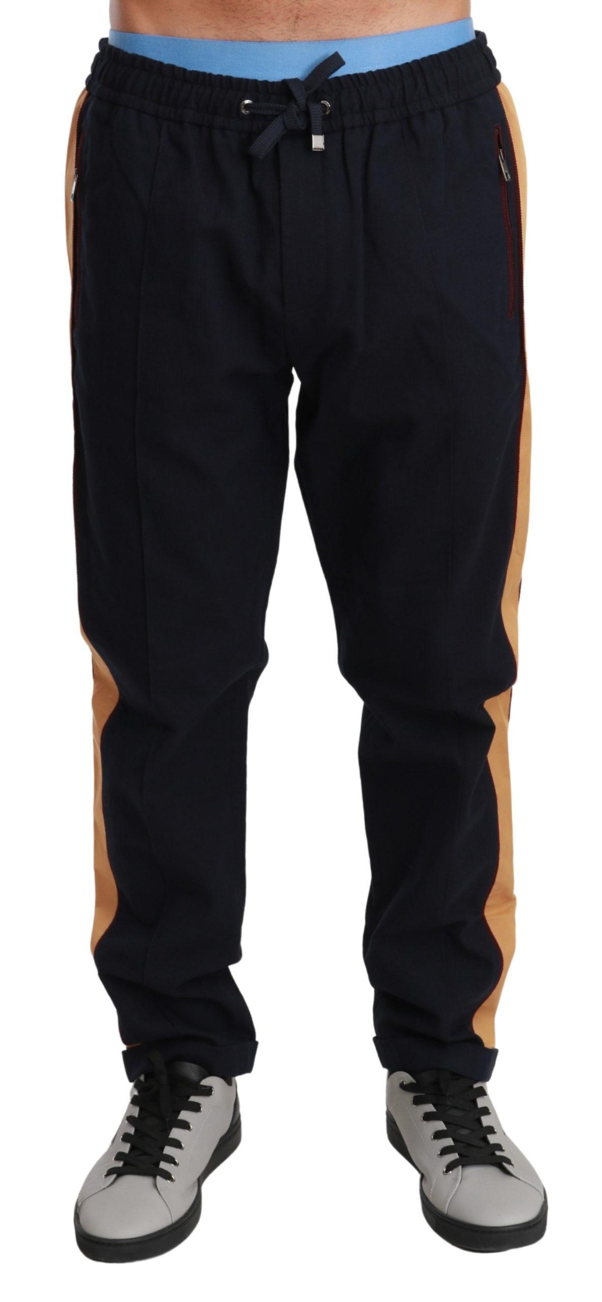 Dolce & Gabbana Men's Striped Wool Stretch Trouser Blue PAN71027 - IT50 | L
