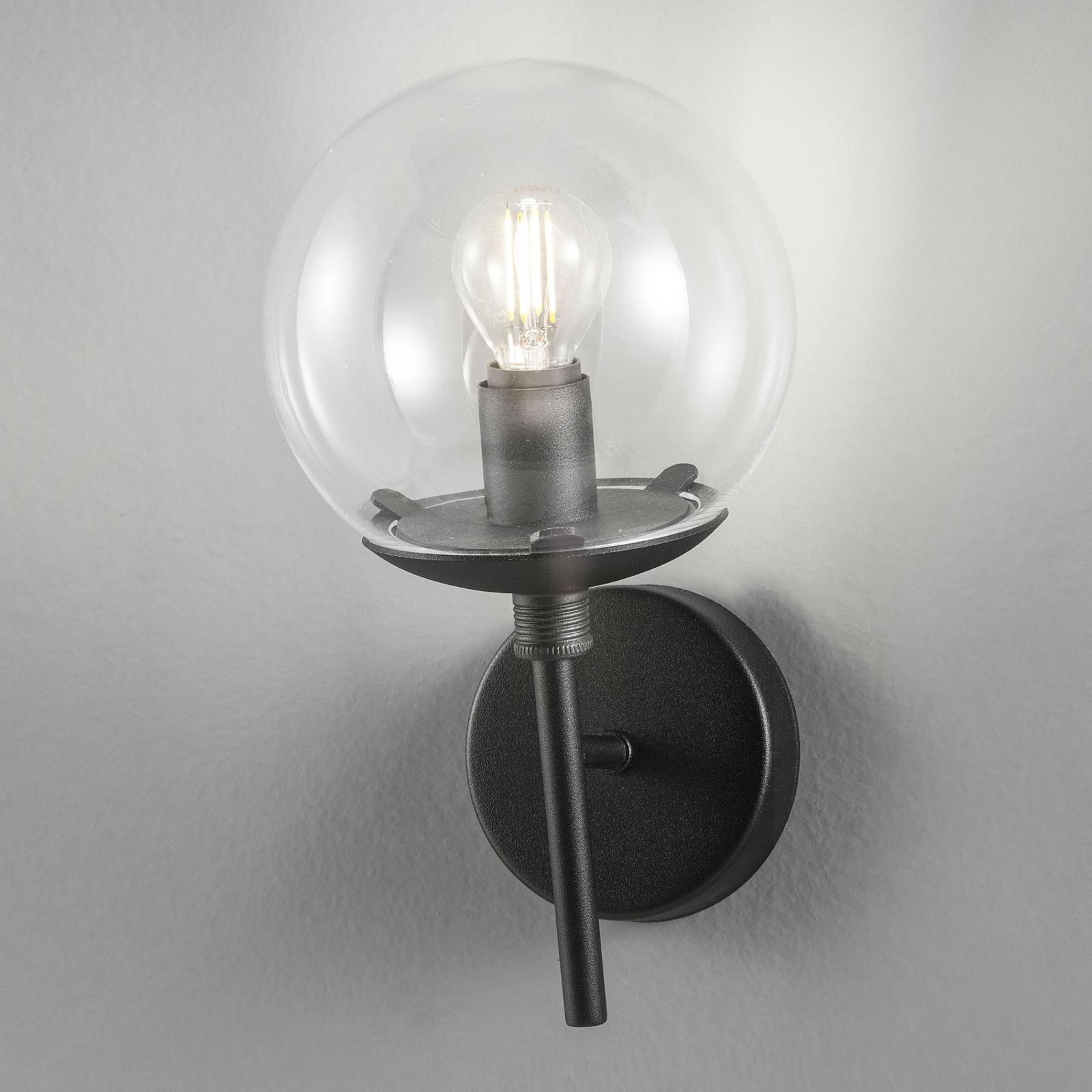 Seinävalaisin Global Ø 15 cm, musta