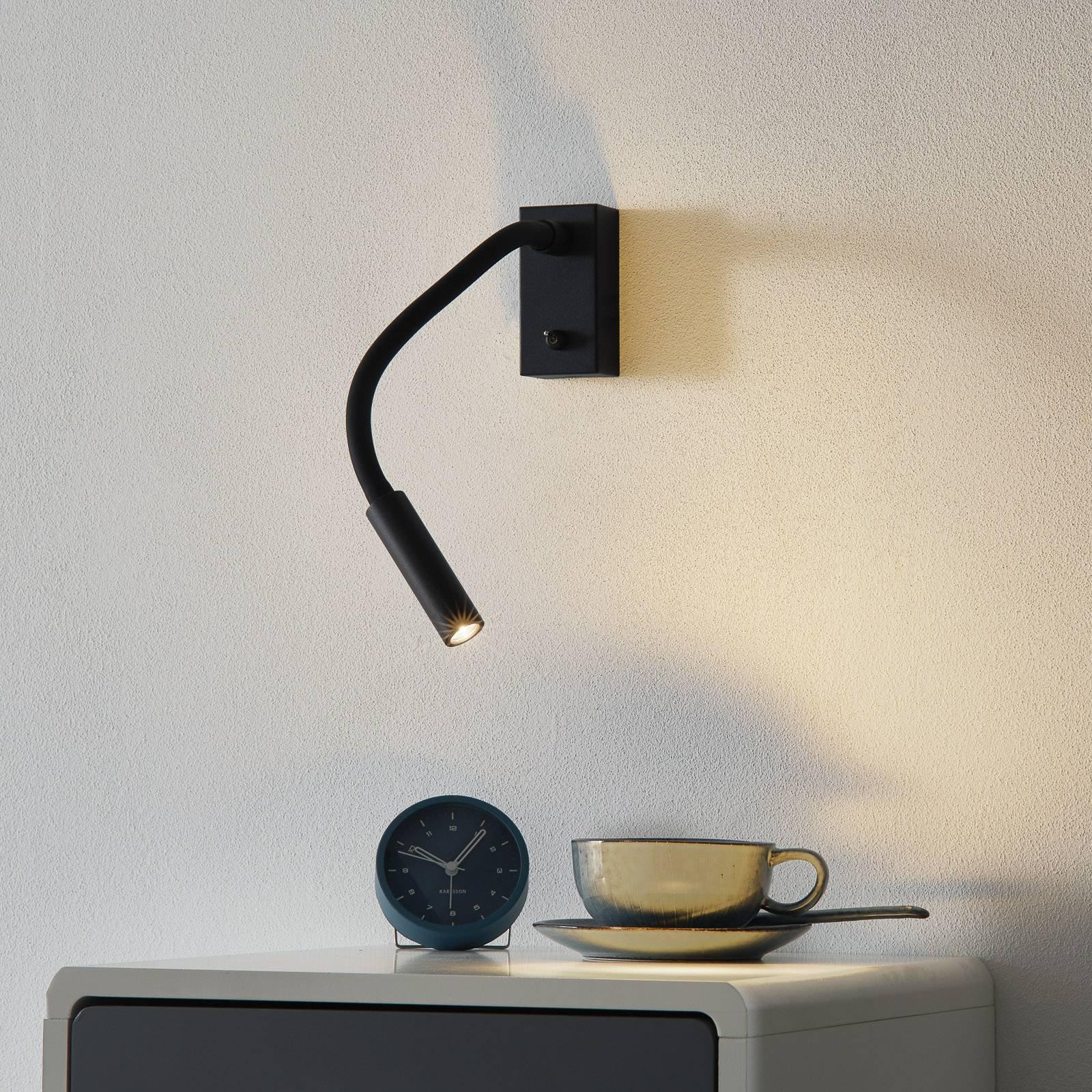 Med bryter - LED-vegglampe Cio med leserarm