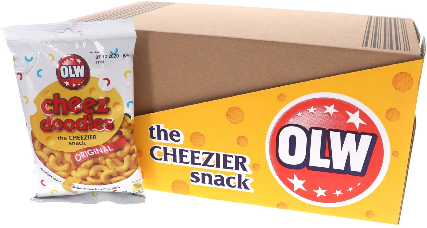 Laatikollinen juustonaksuja 20 x 35 g - 33% alennus