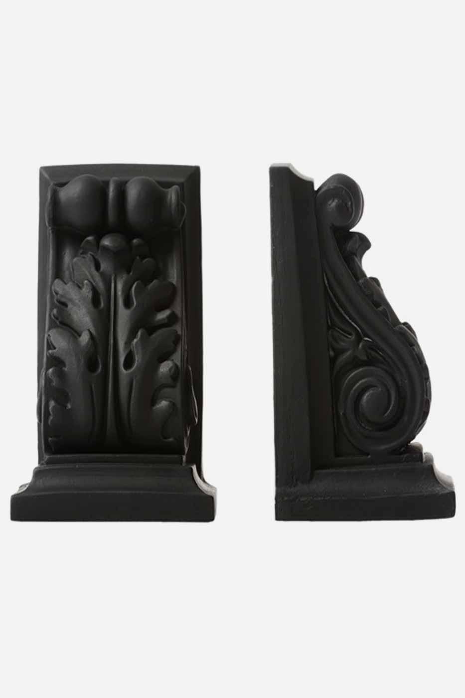 Bokstöd Lito 2-pack 16 cm svart