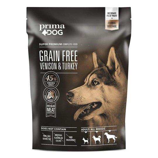 PrimaDog Adult All Breeds Sensitive Grain Free Venison & Turkey (1,5 kg)