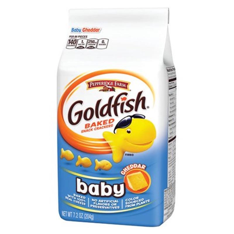 Baby Goldfish Crackers - Cheddar 204g
