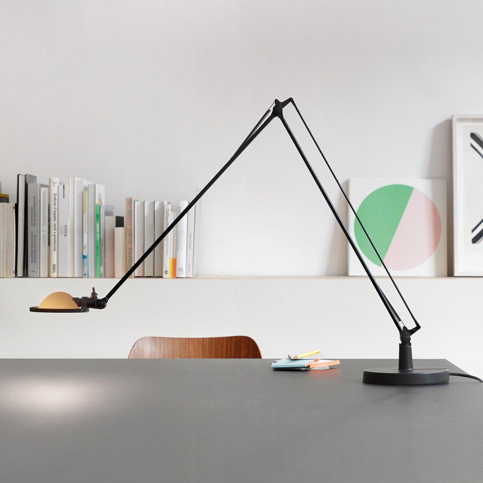 Luceplan Berenice bordlampe 15cm, svart-gul