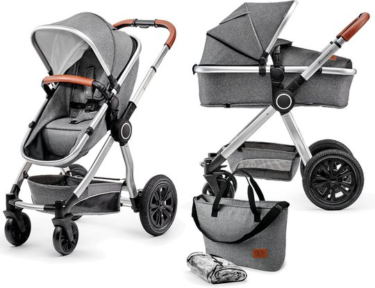 Kinderkraft Multipurpose 2-i-1 Veo Duovogn, Grey
