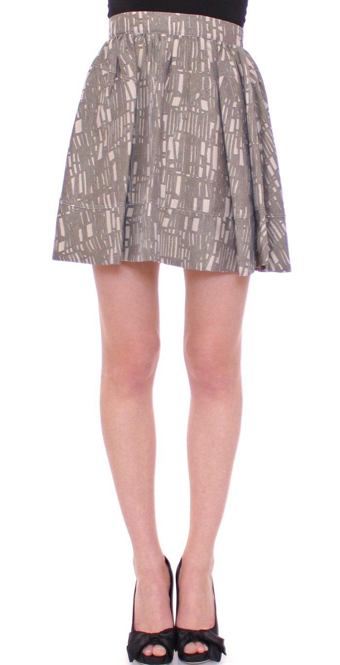 Comeforbreakfast Women's Mini Short A-Line Skirt Gray MOM10053 - S